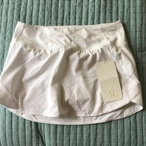 White Lululemon Skirt NWT